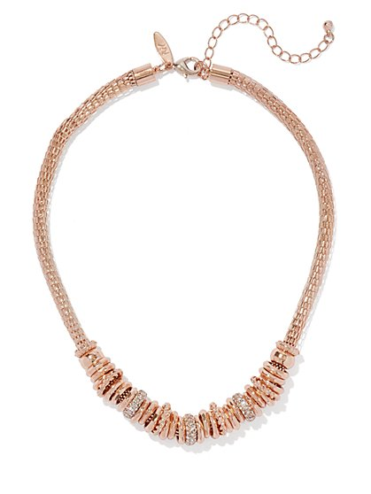 Mesh Rondelle Necklace  - New York & Company