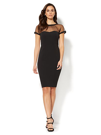 Mesh Sheath Dress - New York & Company