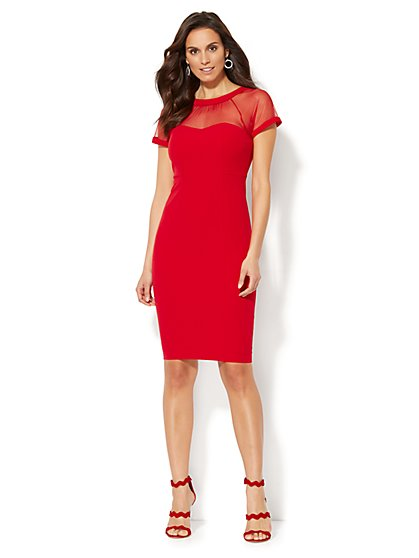 Mesh Sheath Dress - New York & Company