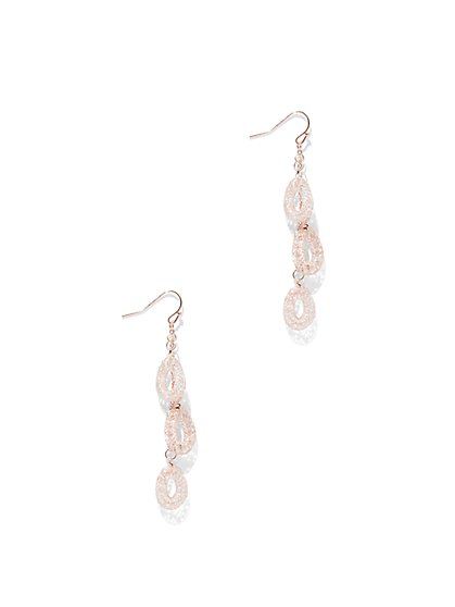 Mesh Teardrop Earring  - New York & Company