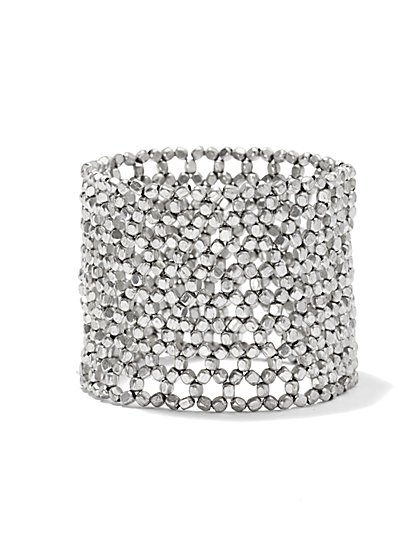 Metal Net Stretch Bracelet  - New York & Company