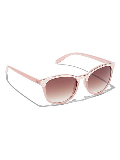 Metal-Rim Sunglasses  - New York & Company