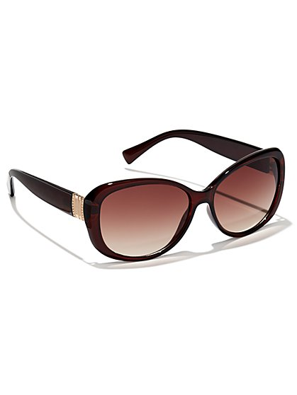 Metallic-Accent Sunglasses - New York & Company