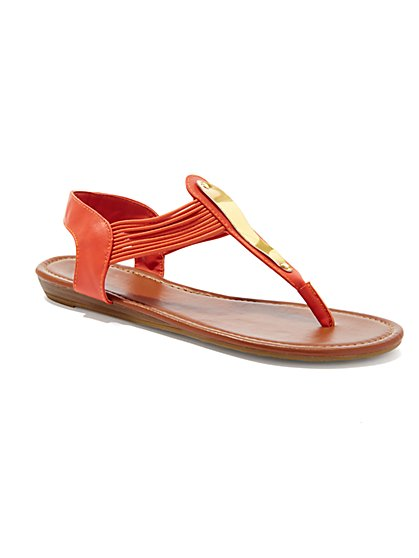 Metallic-Bar Sandal