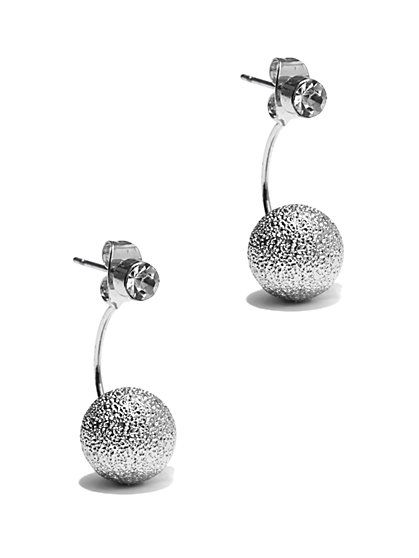 Metallic Bead Post-Drop Earring  - New York & Company