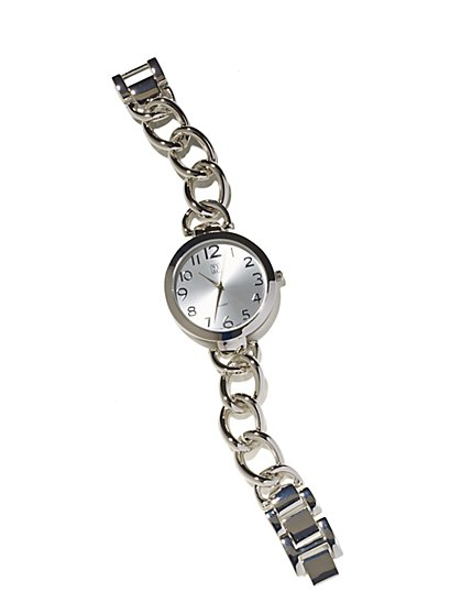 Metallic Chain-Link Watch