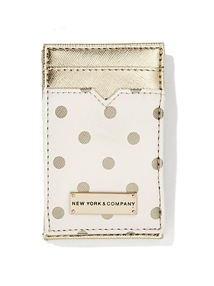Metallic Colorblock Card Case  - New York & Company