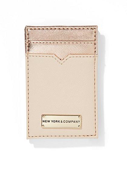 Metallic Colorblock Card Case  - New York & Company