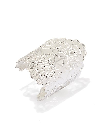 Metallic Filigree Cuff