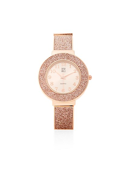 Metallic Glitter Watch  - New York & Company