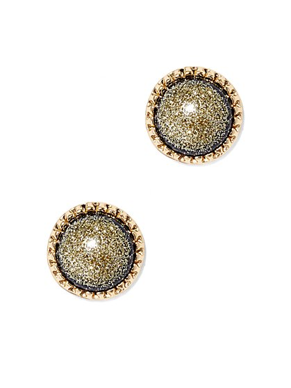 Metallic Goldtone Post Earring - New York & Company