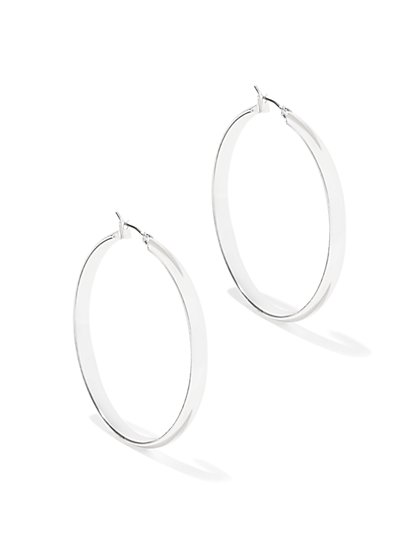 Metallic Hoop Earring