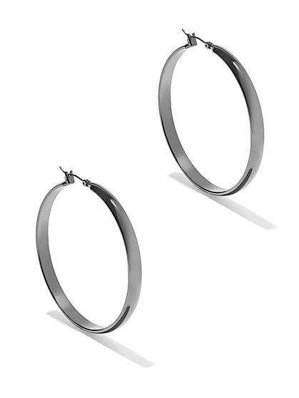 Metallic Hoop Earring - New York & Company