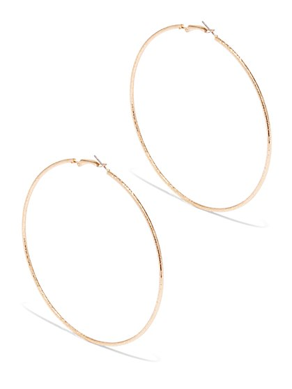 Metallic Large Hoops - New York & Company