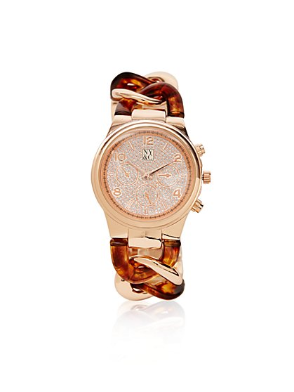Metallic-Links Pavé Watch