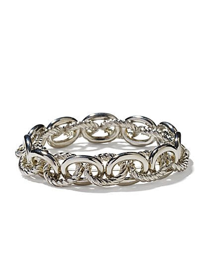 Metallic-Links Stretch Bracelet - New York & Company