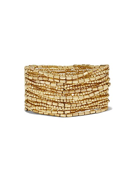 Metallic Multi-Row Stretch Bracelet  - New York & Company
