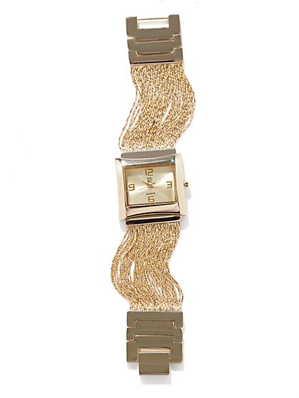 Metallic Multi-Strand Watch - New York & Company