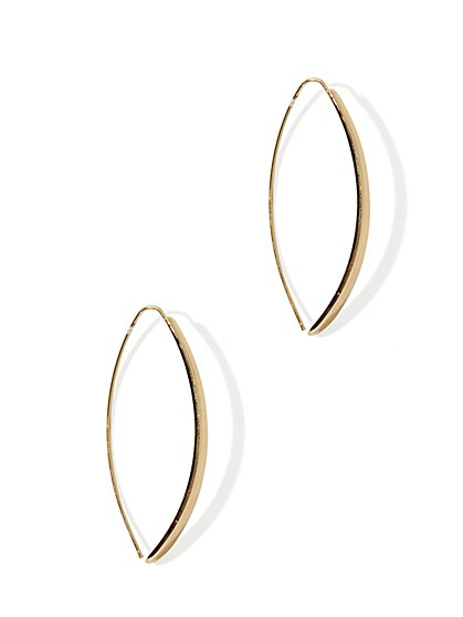 Metallic Open Drop Earring - New York & Company