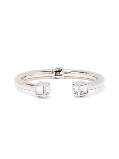 Metallic Open Hinge Bracelet - New York & Company