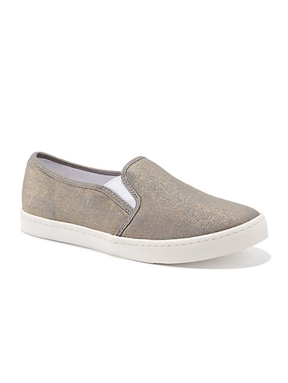 Metallic Slip-On Sneaker - New York & Company