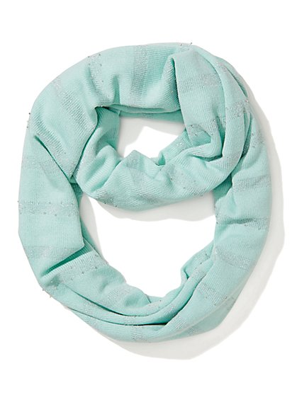 Metallic Stripe Infinity Scarf  - New York & Company