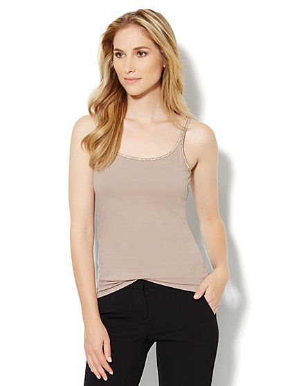 Metallic Trim Camisole - New York & Company