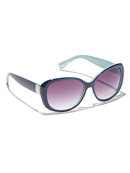 Metallic-Trim Sunglasses - New York & Company