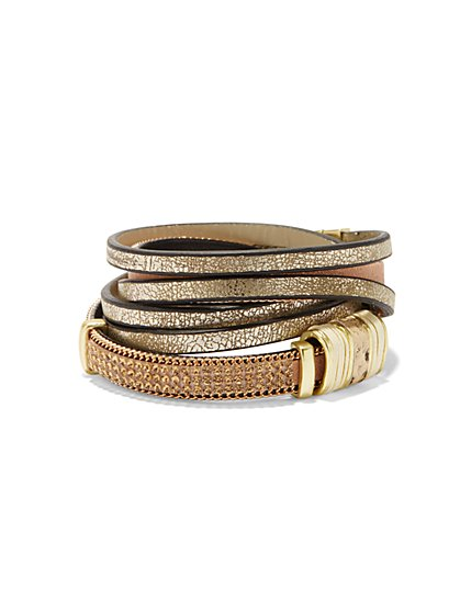 Metallic Wrap Bracelet  - New York & Company