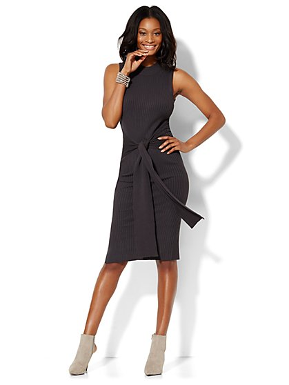 Midi Mock-Neck Sweater Dress - New York & Company