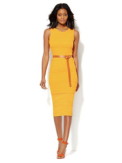 Midi Pointelle Sweater Dress - New York & Company