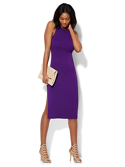 Midi Sweater Sheath Dress  - New York & Company