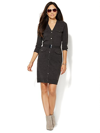 Military Sweater Dress - New York & Company