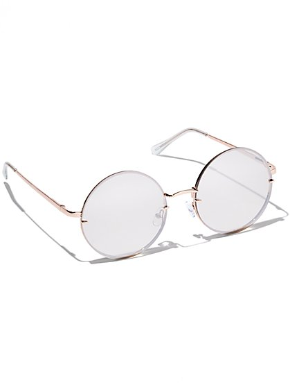 Mirrored Rimless Sunglasses - New York & Company