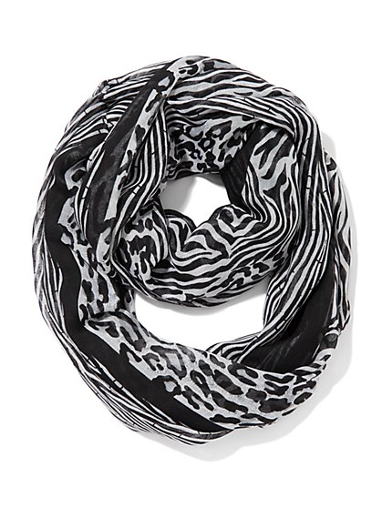 Mix-Animal Print Scarf