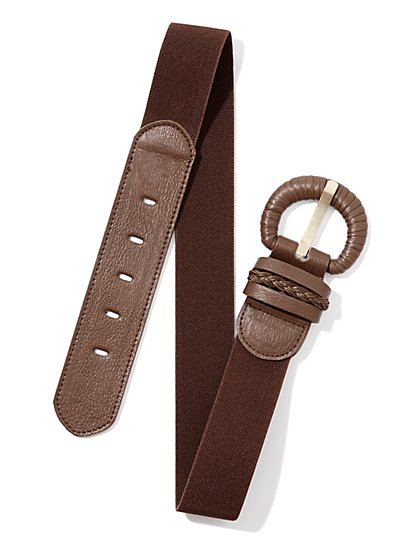 Mix-Fabric Stretch Belt
