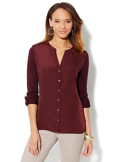 Mix-Knit Shirt - New York & Company