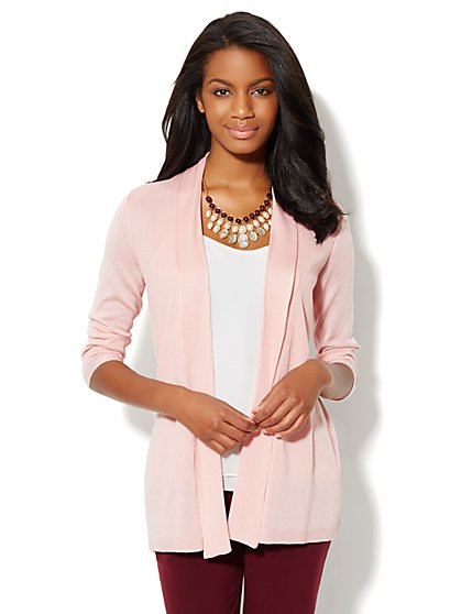 Mix-Stitch Flyaway Cardigan