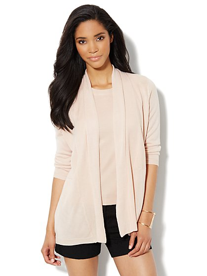 Mix-Stitch Flyaway Cardigan - New York & Company