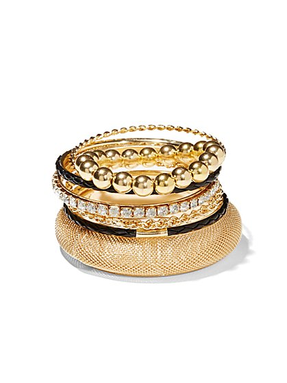 Mixed Bangle Bracelet Set  - New York & Company