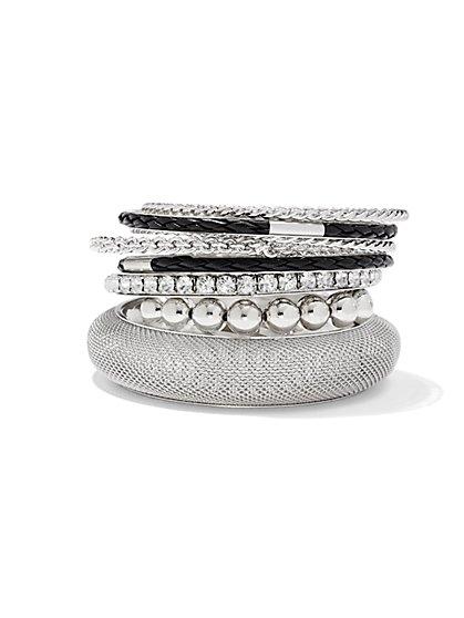 Mixed Bangle Bracelet Set  - New York & Company