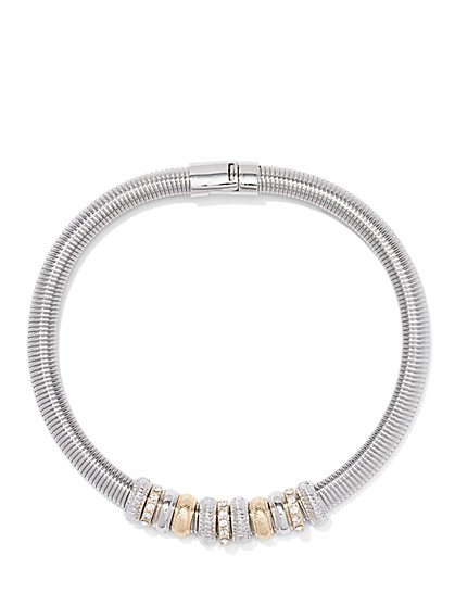 Mixed-Metal Collar Necklace  - New York & Company