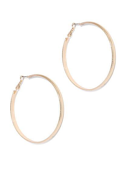 Mixed-Metal Hoop Earring  - New York & Company