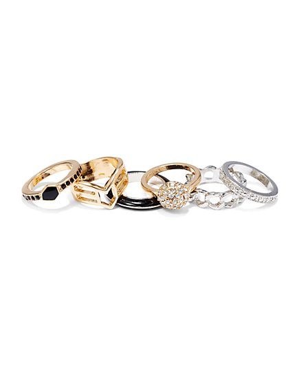 Mixed Metal Ring Set  - New York & Company