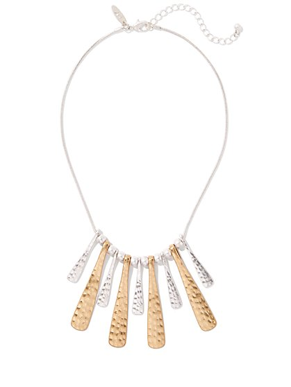 Mixed-Metal Statement Necklace  - New York & Company
