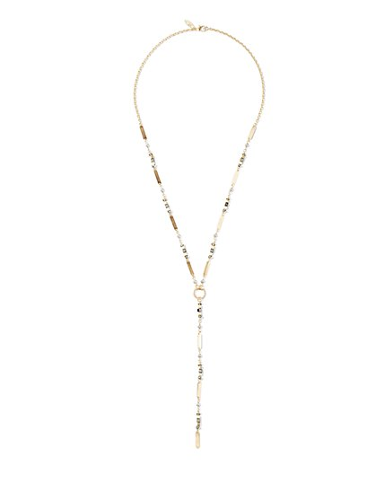 Mixed-Metal Y Necklace  - New York & Company