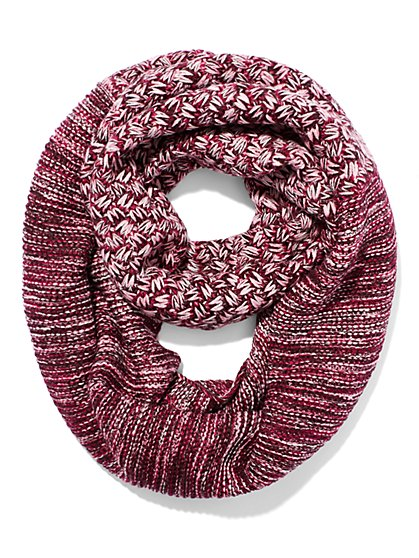 Mixed-Stitch Infinity Scarf  - New York & Company