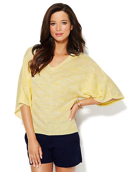 Mixed-Stitch Space-Dye Sweater - New York & Company