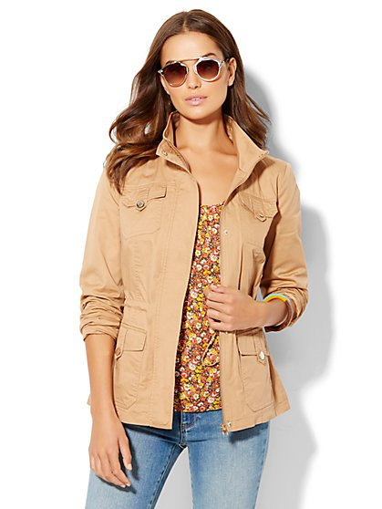 Mock-Neck Anorak Jacket  - New York & Company