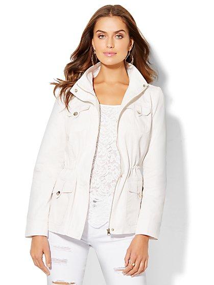 Mock-Neck Anorak Jacket  - New York & Company